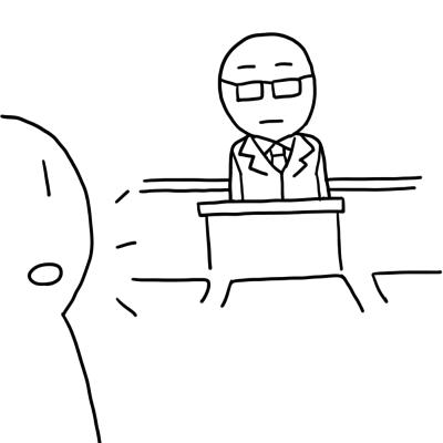 教室に先生がいるイラスト