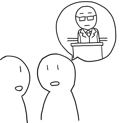 昨日先生が教室にいたイラスト